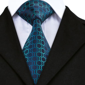 NeckTies for Men Dark Blue Deep sky blue - KrishQ