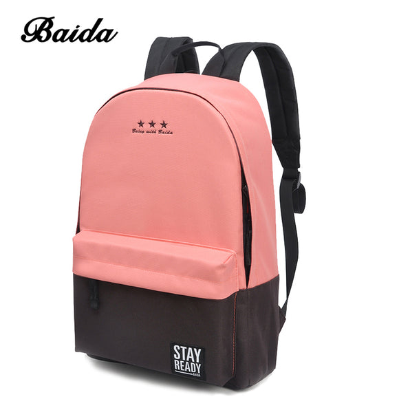 Fashion Backpack Women Children Schoolbag Back Pack Leisure Korean Ladies Knapsack Laptop Travel Bags for School Teenage Girls - KrishQ