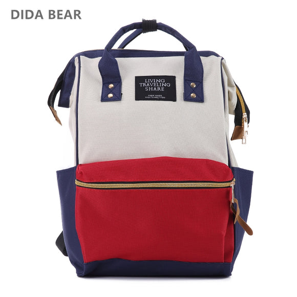 DIDA BEAR Fashion Women Backpacks Female Denim School Bag For Teenagers Girls Travel Rucksack Large Space Backpack Sac A Dos - KrishQ