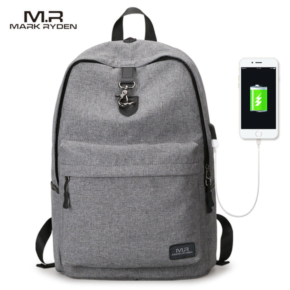 Mark Ryden New Arrivals four Colors USB design Backpack Men Male student backpack weekend Mochila - KrishQ