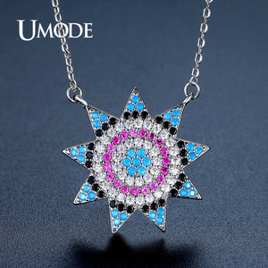 UMODE New Charm Sun Crystal Pendant Necklaces for Women - KrishQ