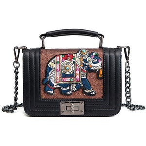 2018 New Fashion Personality Embroidery Elephant Sequins - KrishQ