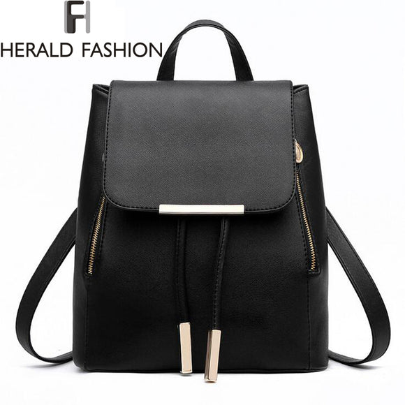 Women Backpack High Quality PU Leather - KrishQ