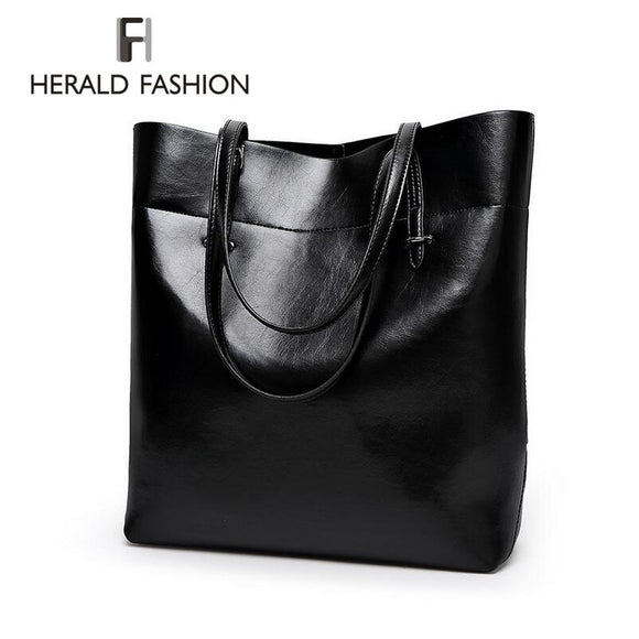 High Quality Leather Women Bucket Shoulder Bags - KrishQ