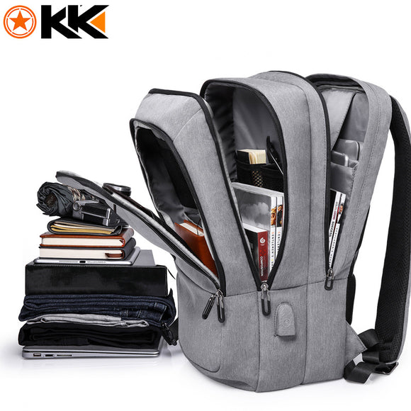 Backpack Waterproof USB Charging Travel Backpack Large Capacity 17.3