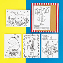 Load image into Gallery viewer, Colour-me-in Christmas Cards