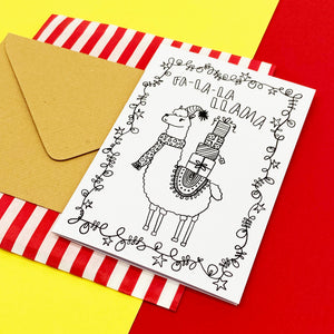 Colour-me-in Christmas Cards