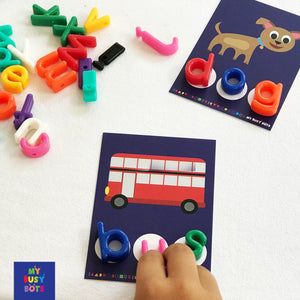 The Fox sat on the Mat | Busy Bag | Learning Letters & Words