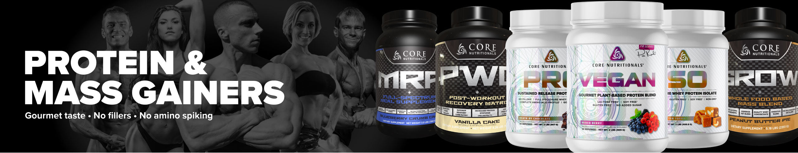 core protein and mass gainers