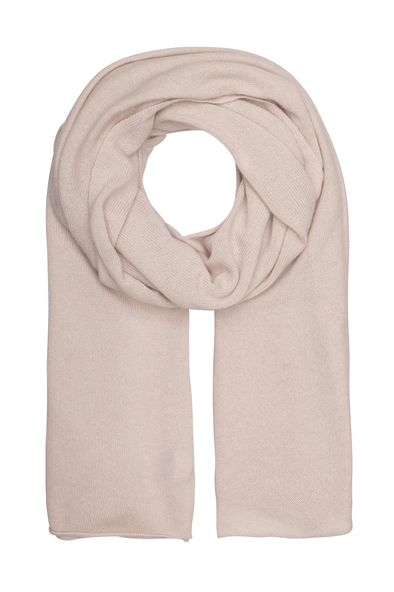 Luna - stor klassisk halsduk i cashmere - Light dusty rose