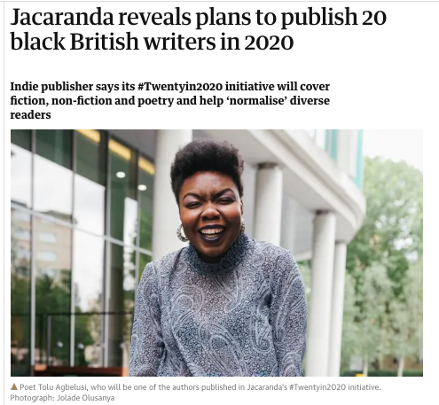 Jacaranda Features in the Guardian PLUS #TwentyIn2020