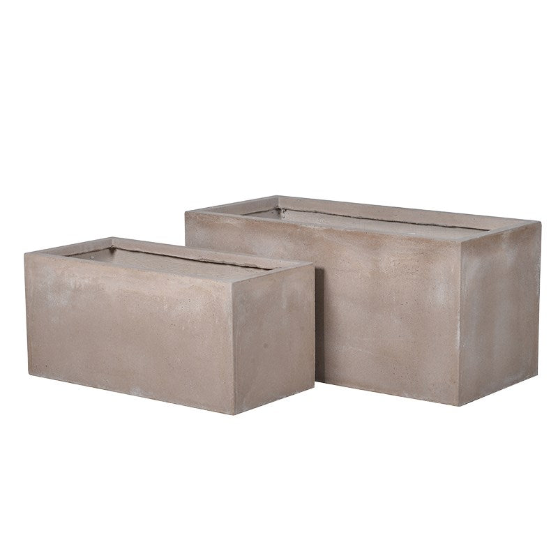 SET OF RUSHMORE CONCRETE PLANTERS