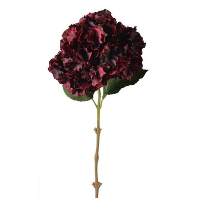 PREMIUM TALL BURGUNDY HYDRANGEA SPRAY STEM