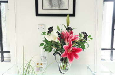 STARGAZER LILY & BERRY DISPLAY