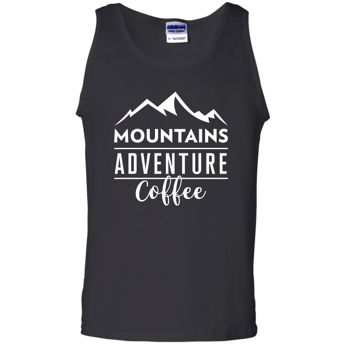 Mountains, Adventures, Coffee Tank Top (Men's)