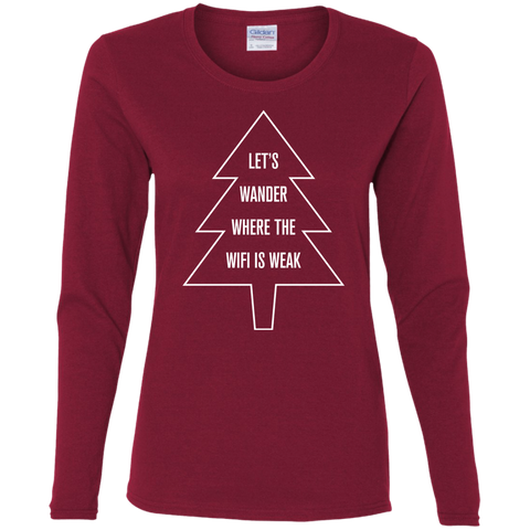 Let's Wander Where WiFi Is Weak Long Sleeve Top (Women's)