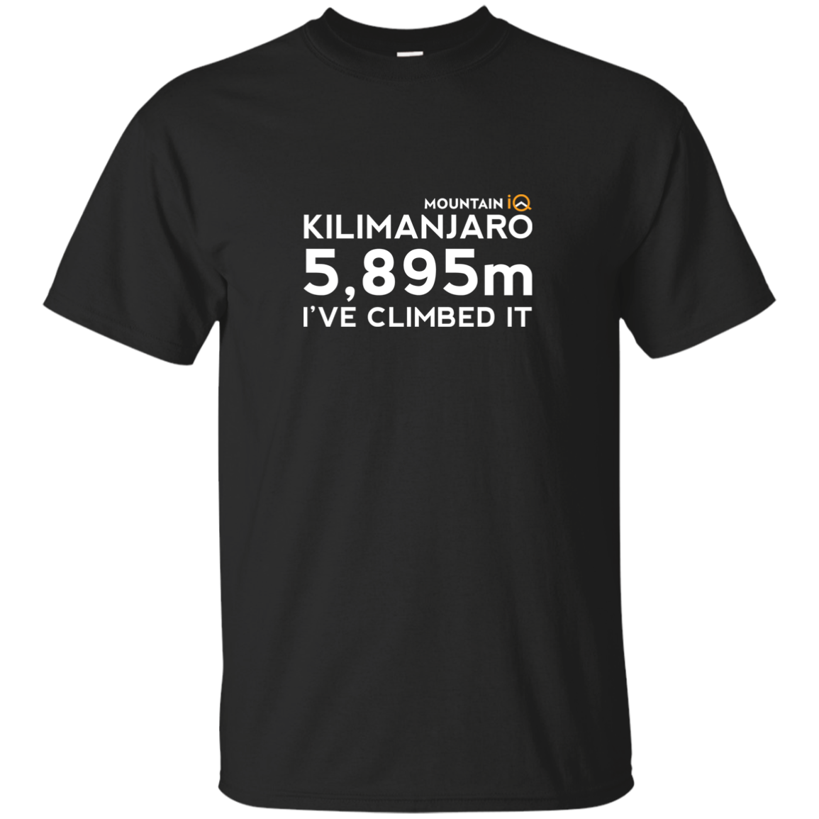 Kilimanjaro Climb in Meters Men's T-Shirt (Cotton/Wicking)