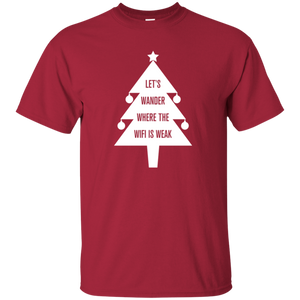 Hiking Christmas Tree T-Shirt For Men (Choose Color)