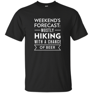 Weekend's Forecast: Hiking With a Chance Of Beer T-Shirt (Men's)