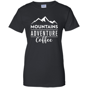 Mountains, Adventures, Coffee T-Shirt (Women's)