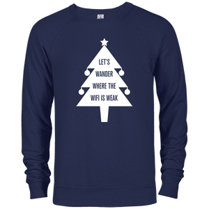 Christmas Tree Long Sleeve Top – Let's Wander Where WiFi Is Weak (Men's)