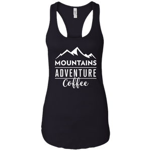 Mountains, Adventures, Coffee Tank Top (Women's)