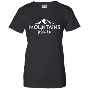 T-Shirt Womens Mountains Please