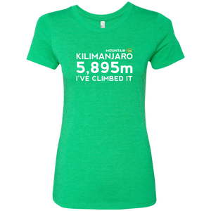 Kilimanjaro Climb in Meters Women's T-Shirt (Cotton/Wicking)