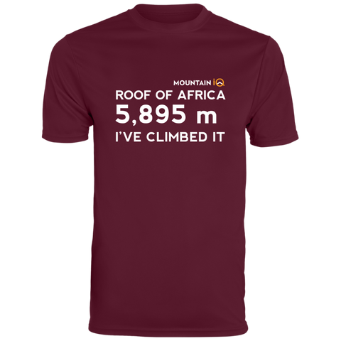 Roof Of Africa Climb in Meters Men's T-Shirt (Cotton/Wicking)