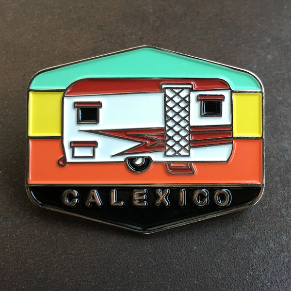Caravan Pin Badge