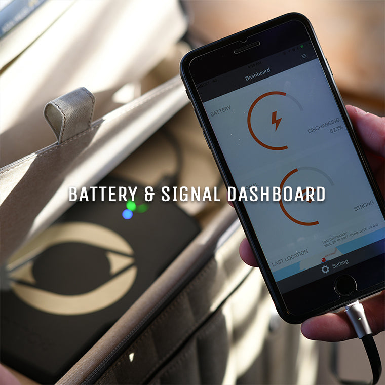 battery and signal dashboard