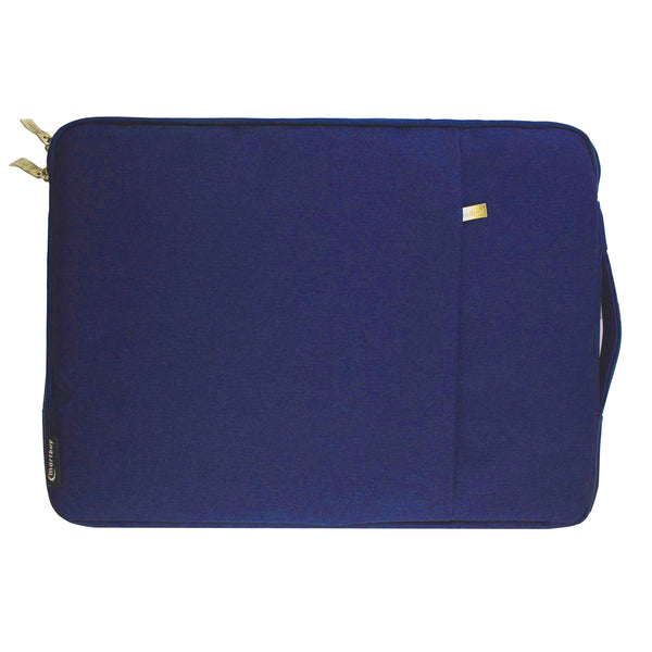 Blue Fabric Zipper Sleeve