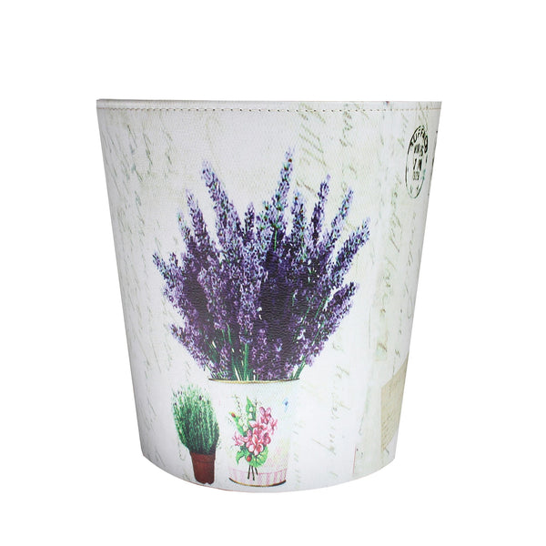 Dustbin - Floral Purple