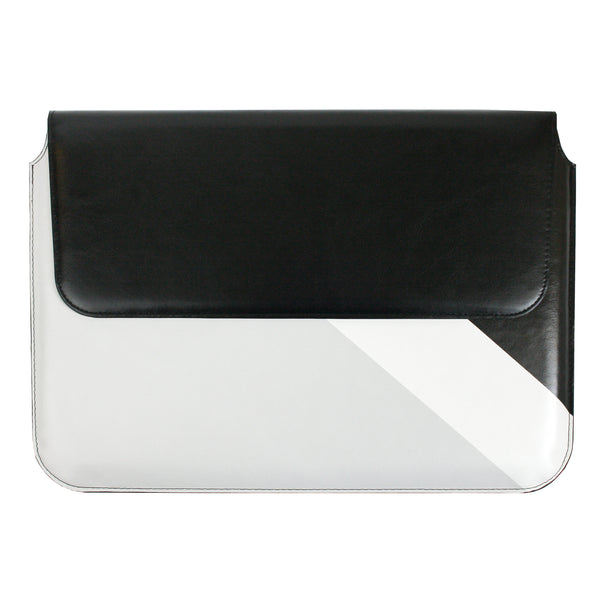PU Leather Magnetic Folio - Black Grey