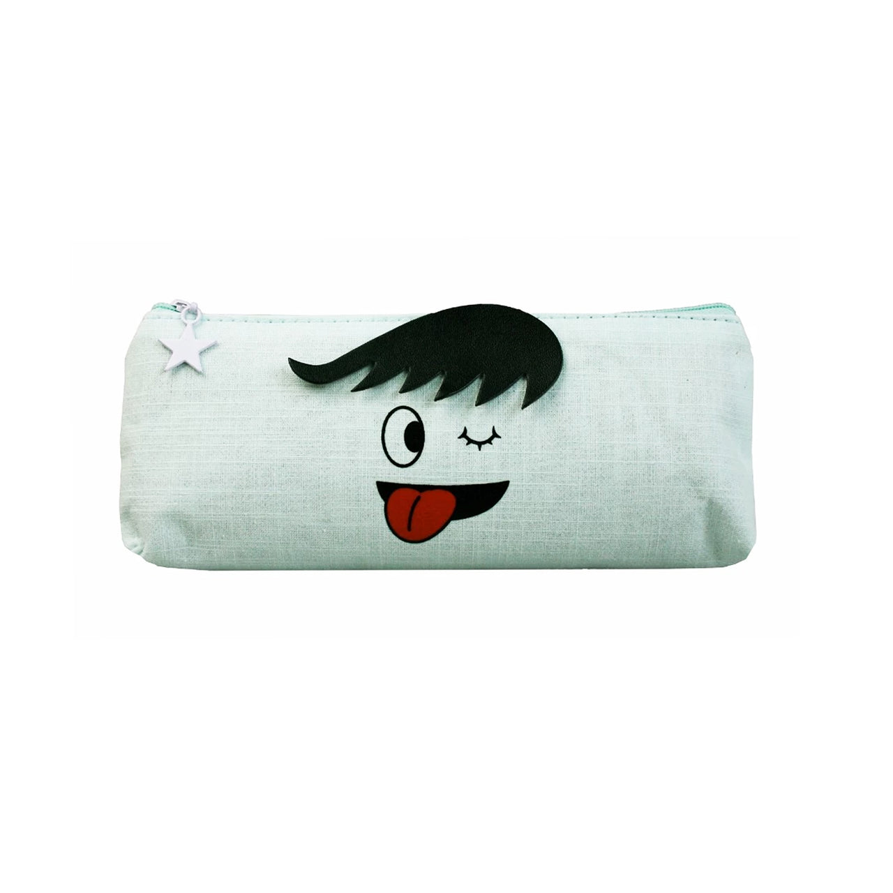 Face Fabric Pencil Case - Wink