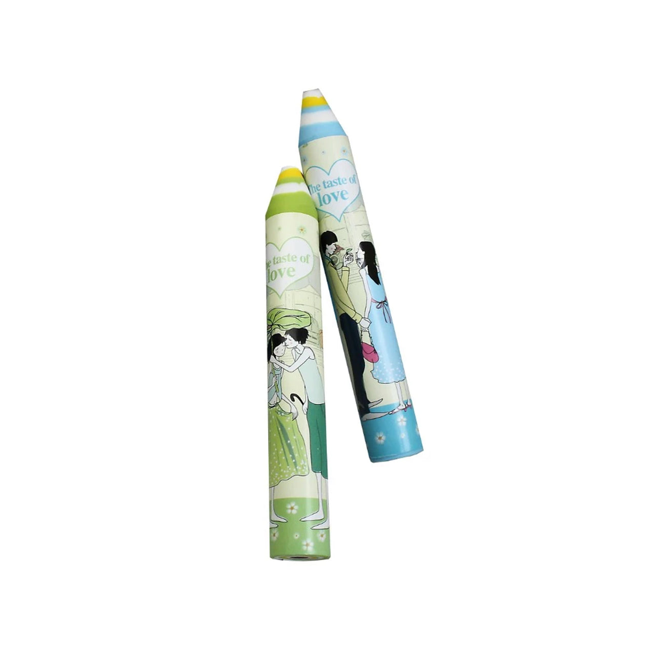 Green Blue Pencil Eraser - Set of 2