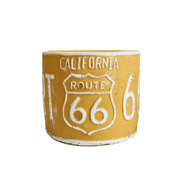 Number Plate Planter - Yellow
