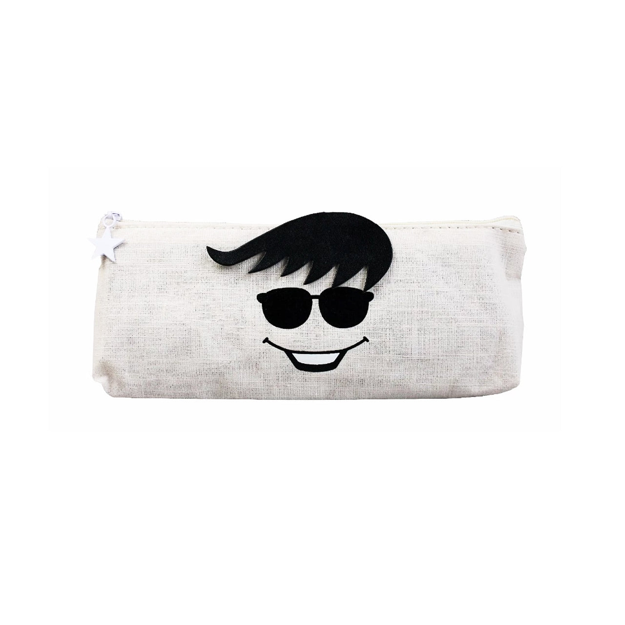 Face Fabric Pencil Case - Happy