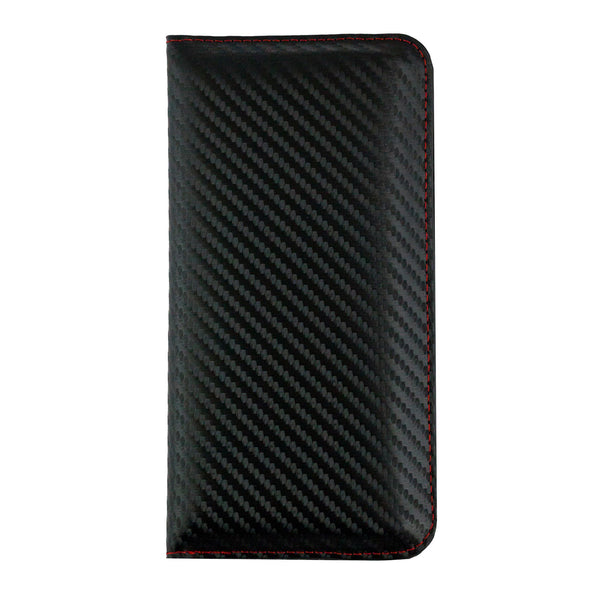 Magnetic Slim Wallet - Black Red Carbon