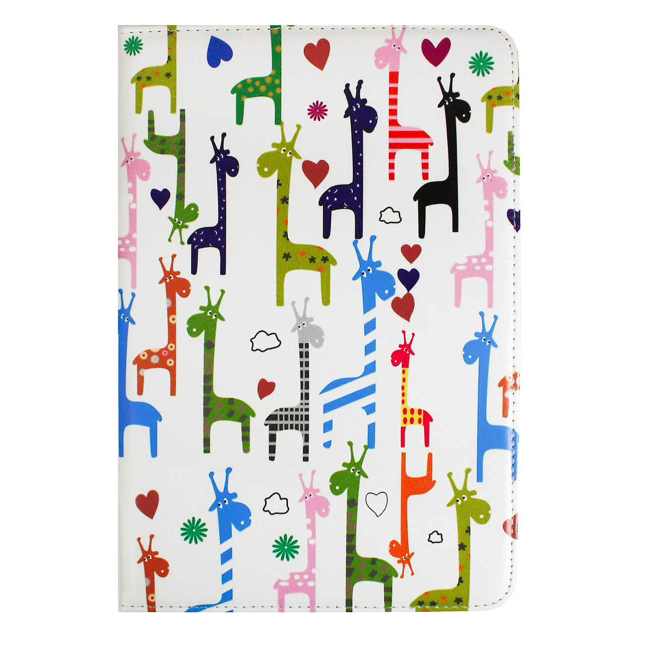 Universal Tablet Case - Multicolored Giraffes