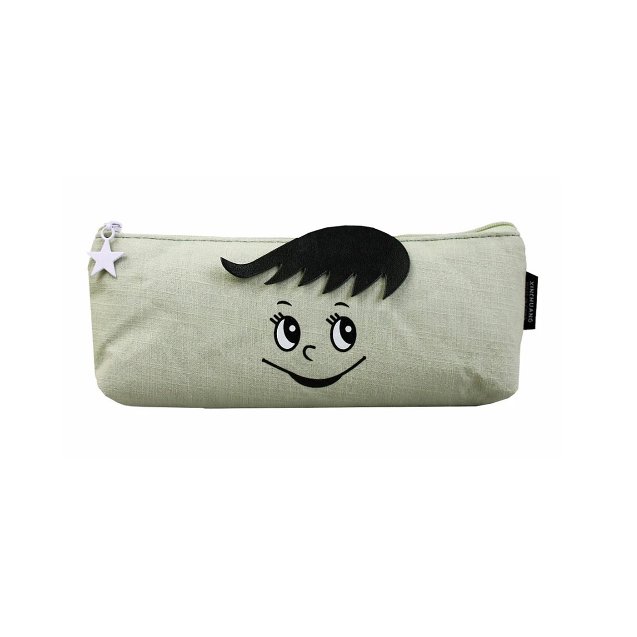 Face Fabric Pencil Case - Shy