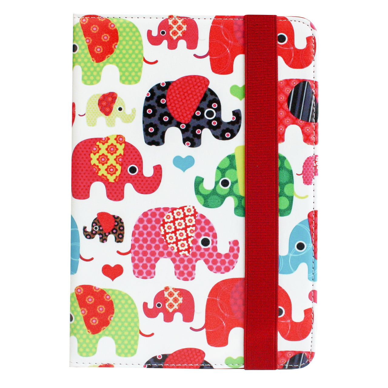 Universal Tablet Case - Multicolored Elephants