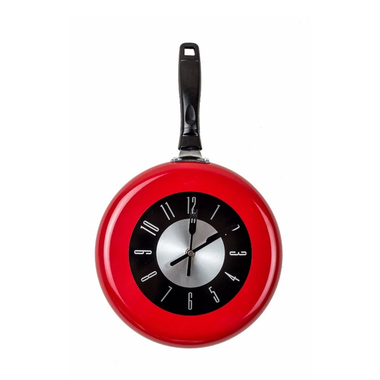 Frying Pan Clock - Red