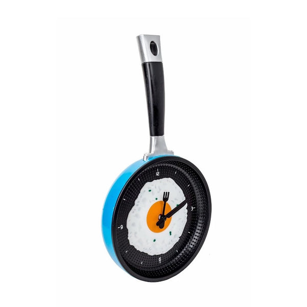 Fried Egg Pan Clock - Blue