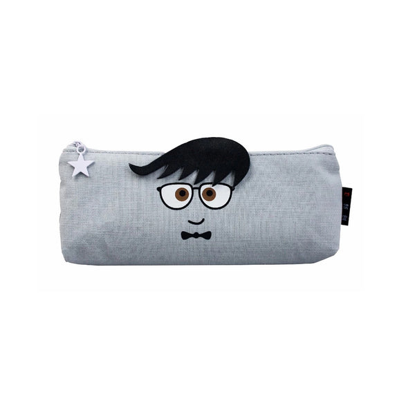 Face Fabric Pencil Case - Scared