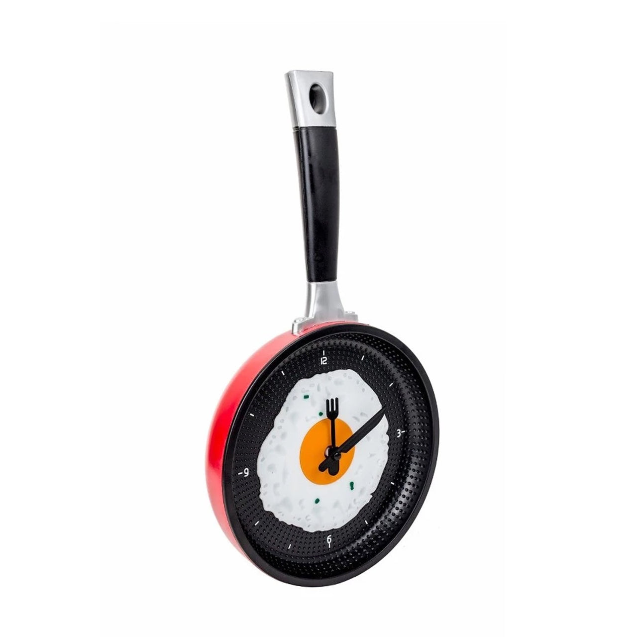 Fried Egg Pan Clock - Red