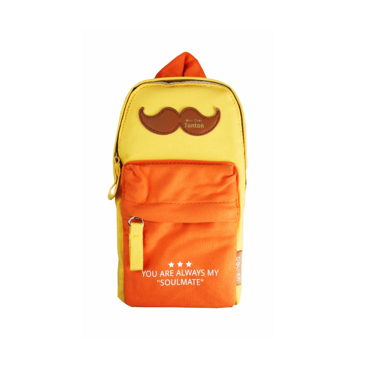 Backpack Pencil Case - Yellow Orange - EMARTBUY