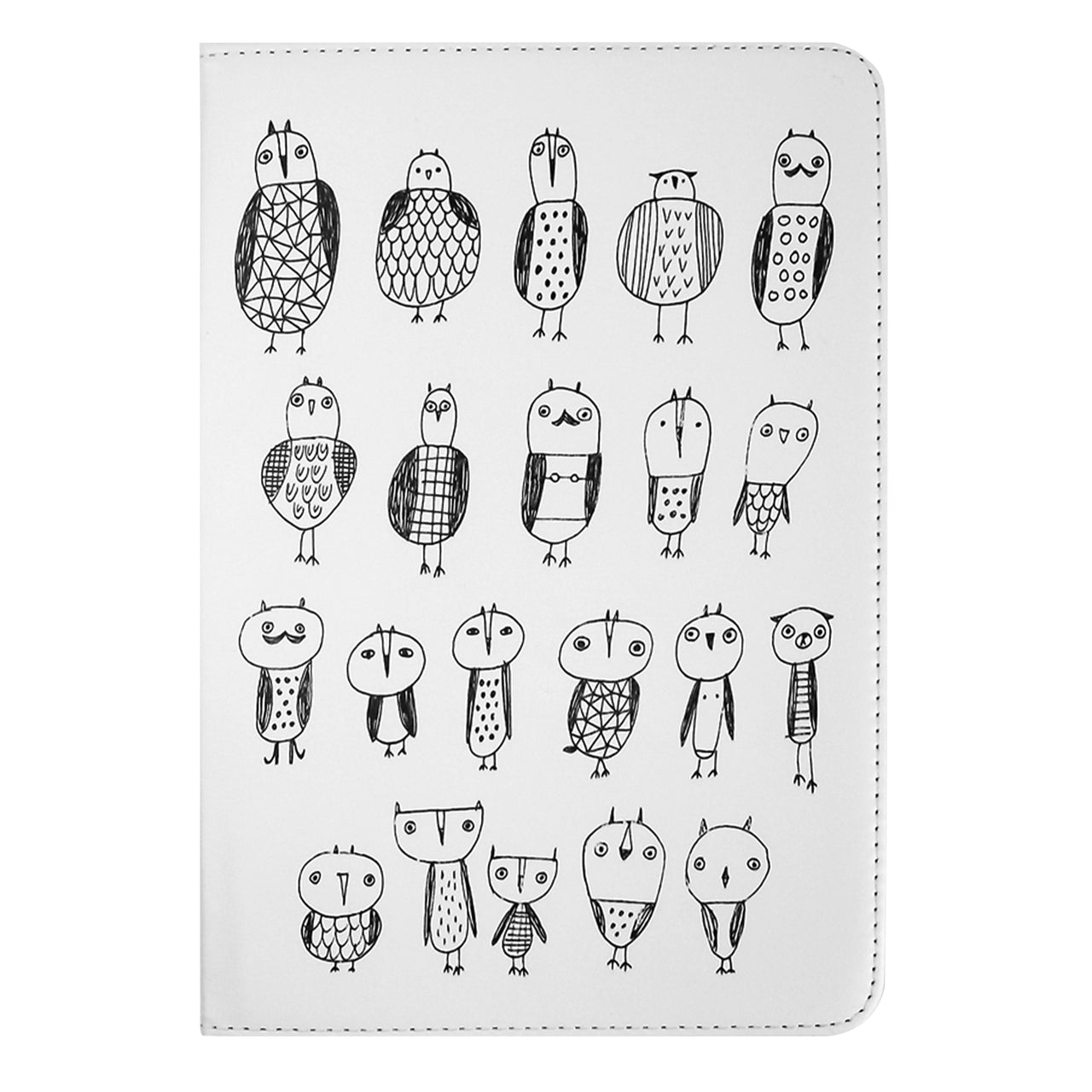 Universal Tablet Case - Monochrome Owls