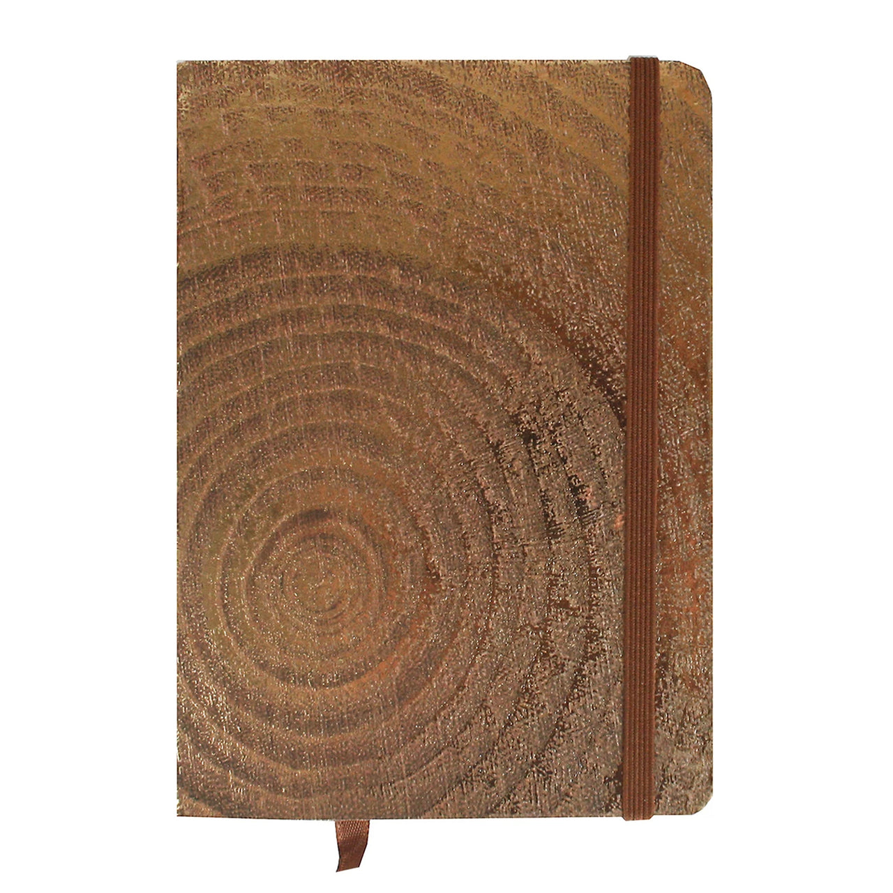 A7 Wood Effect Notebook - Metallic Bronze