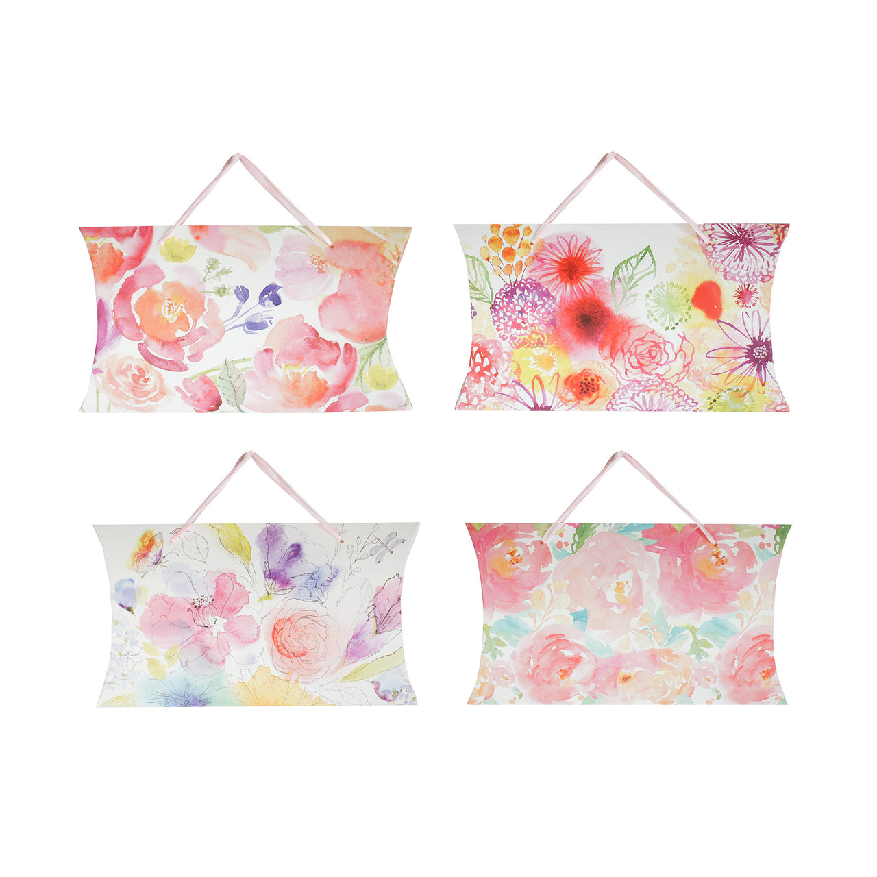 Floral Pillow Gift Bag - Set of 4